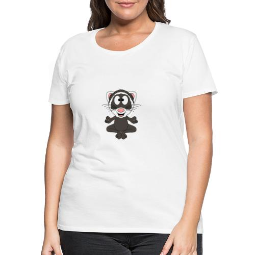 Lustiges Frettchen - Yoga - Relax - Chill - Fun - Frauen Premium T-Shirt