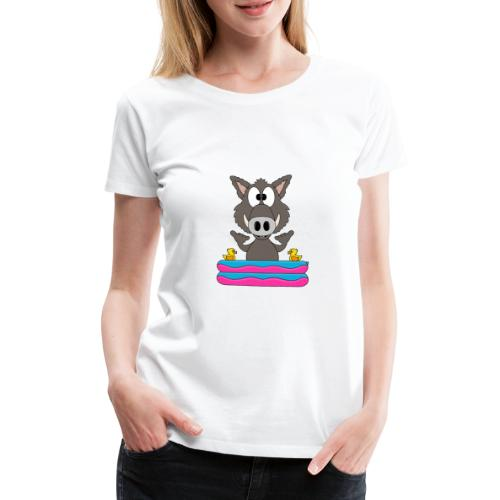 Lustiges Wildschwein - Planschbecken - Shaka - Fun - Frauen Premium T-Shirt