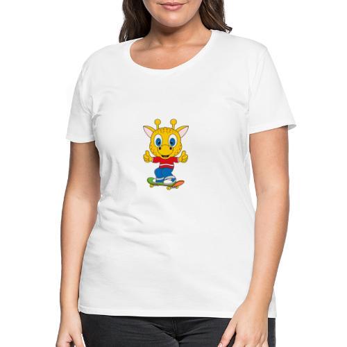 Lustige Giraffe - Skateboard - Sport - Fun - Frauen Premium T-Shirt