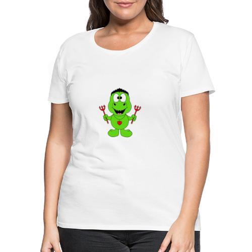 Lustiger Dino - Dinosaurier - Teufel - Kids - Baby - Frauen Premium T-Shirt