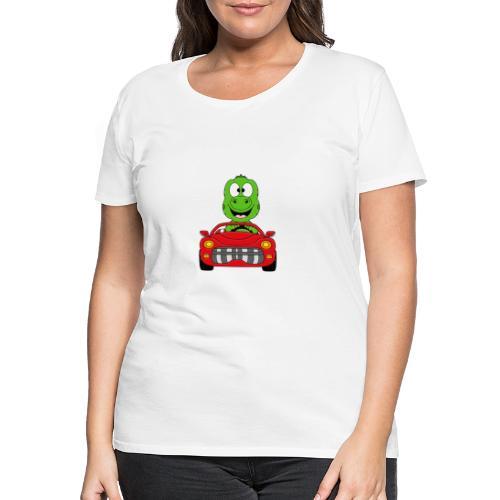 Lustiger Gecko - Echse - Auto - Cabrio - Car - Fun - Frauen Premium T-Shirt