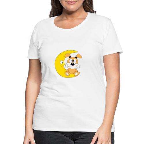Lustiger Hund - Dog - Knochen - Mond - Tier - Frauen Premium T-Shirt