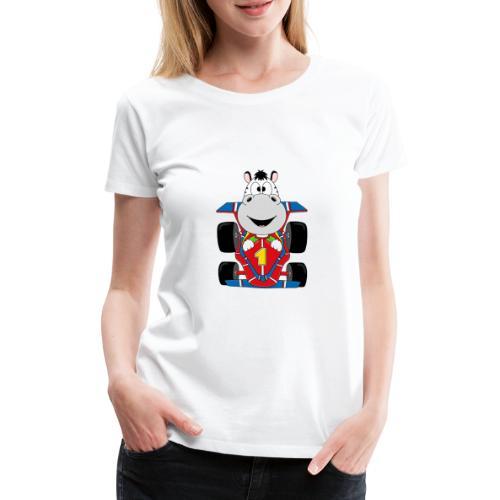 Lustiges Zebra - Rennauto - Auto - Nummer 1 - Frauen Premium T-Shirt