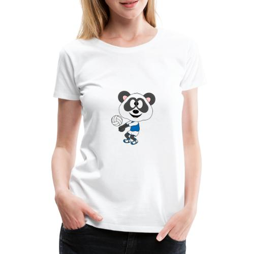 Lustiger Panda - Bär - Volleyball - Sport - Fun - Frauen Premium T-Shirt