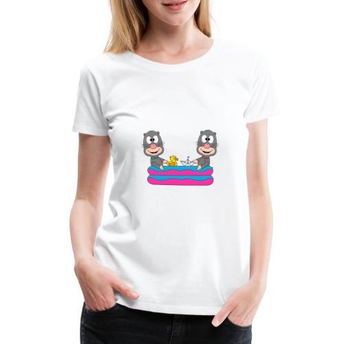 Lustige Maulwürfe - Planschbecken - Pool - Fun - Frauen Premium T-Shirt