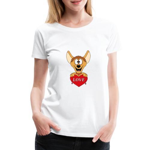 Lustige Hyäne - Herz - Liebe - Love - Tier - Fun - Frauen Premium T-Shirt