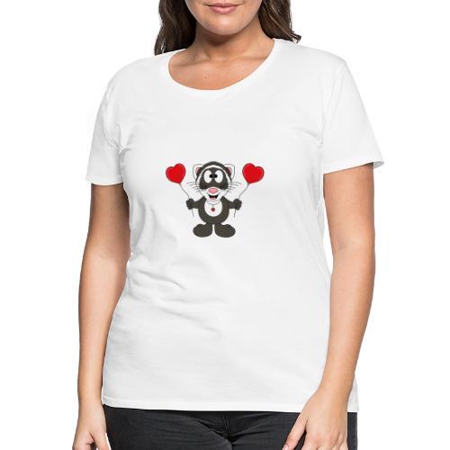 Lustiges Frettchen - Herzen - Luftballons - Tier - Frauen Premium T-Shirt