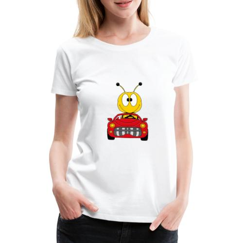 Lustige Biene - Auto - Cabrio - Tier - Fun - Frauen Premium T-Shirt