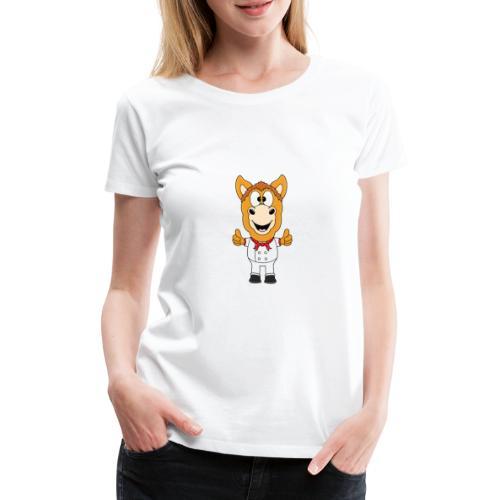 Lustiges Pferd - Pony - Bäcker - Koch - Fun - Frauen Premium T-Shirt