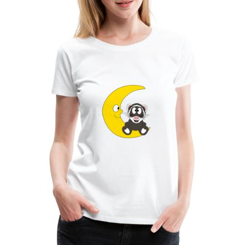 Lustiges Frettchen - Mond - Kind - Baby - Fun - Frauen Premium T-Shirt