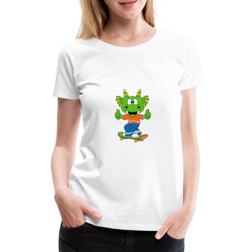 Lustiger Drache - Dragon - Skateboard - Sport - Frauen Premium T-Shirt