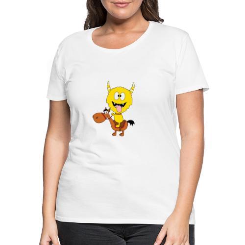 Monster - Pferd - Reiten - Pony - Kind - Baby - Frauen Premium T-Shirt