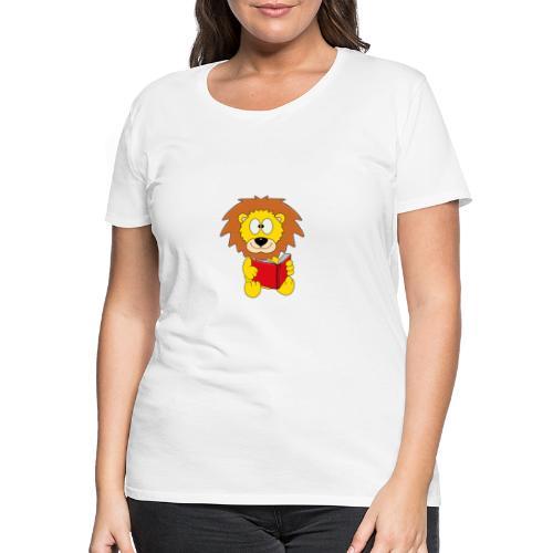 Löwe - Buch - Lesen - Geschichte - Kind - Tier - Frauen Premium T-Shirt