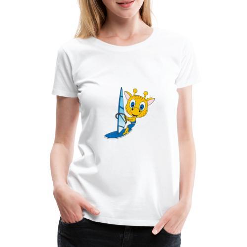 Giraffe - Surfer - Windsurfer - Wassersport - Frauen Premium T-Shirt