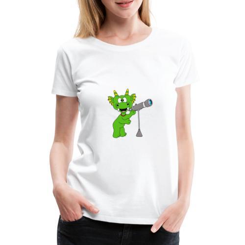 Drache - Teleskop - Astronom - Sterne - Kinder - Frauen Premium T-Shirt