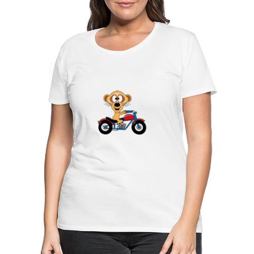 Erdmännchen - Motorrad - Biker - Kind - Baby - Frauen Premium T-Shirt