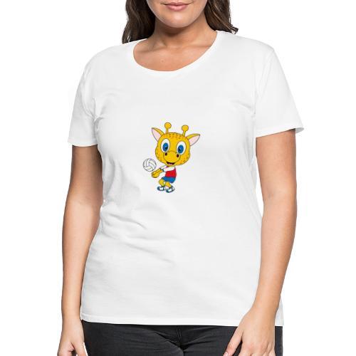 Giraffe - Volleyball - Sport - Tier - Kind - Baby - Frauen Premium T-Shirt