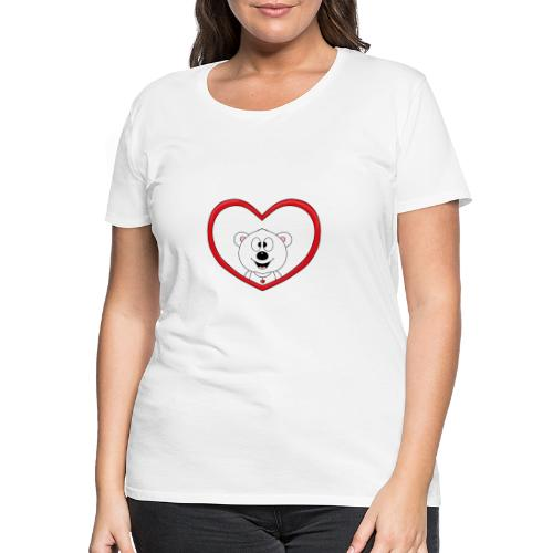 Eisbär - Bär - Teddy - Herz - Liebe - Love - Fun - Frauen Premium T-Shirt