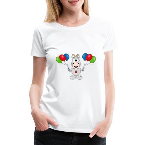 Ziege - Luftballons - Geburtstag - Party - Tier - Frauen Premium T-Shirt