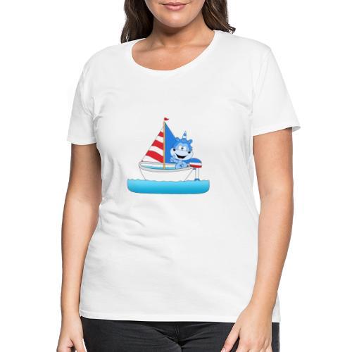 Einhorn - Segeln - Boot - Schiff - Kapitän - See - Frauen Premium T-Shirt