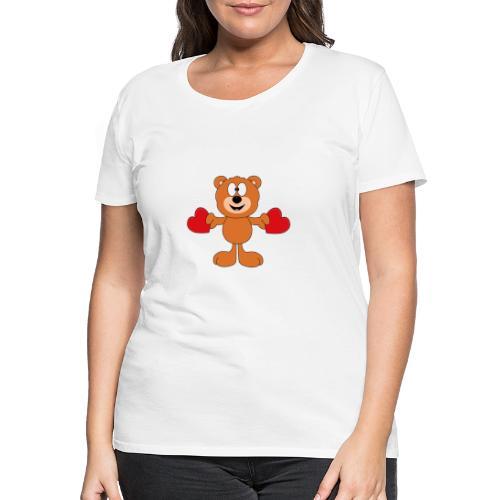 Teddy - Bär - Herzen - Liebe - Love - Tier - Frauen Premium T-Shirt