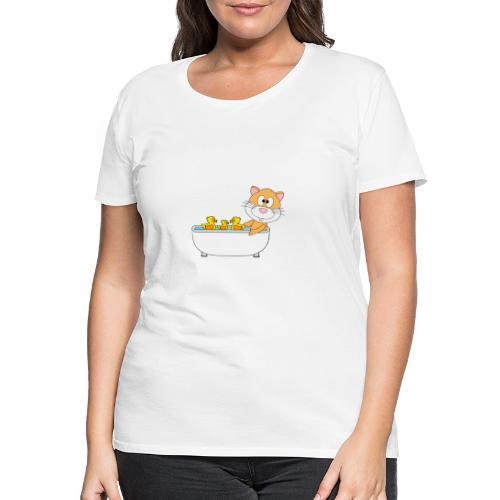 Hamster - Badewanne - Kind - Baby - Tier - Fun - Frauen Premium T-Shirt