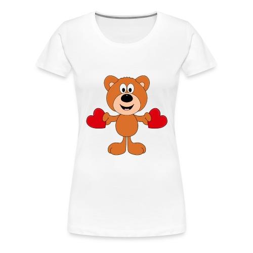 TEDDY - BÄR - LIEBE - LOVE - KIND - BABY - Frauen Premium T-Shirt