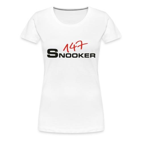 147_snooker - Frauen Premium T-Shirt