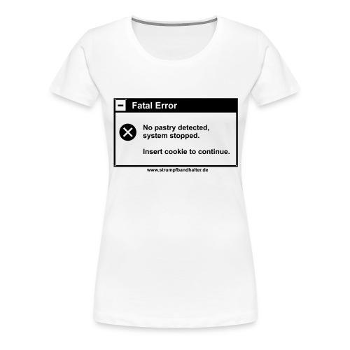 T-Shirt Insert Cookie - schwarzer Aufdruck - Frauen Premium T-Shirt