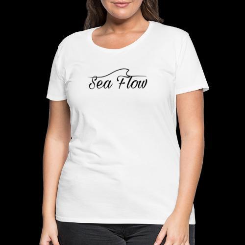 Sea Flow logo originale grande - Maglietta Premium da donna