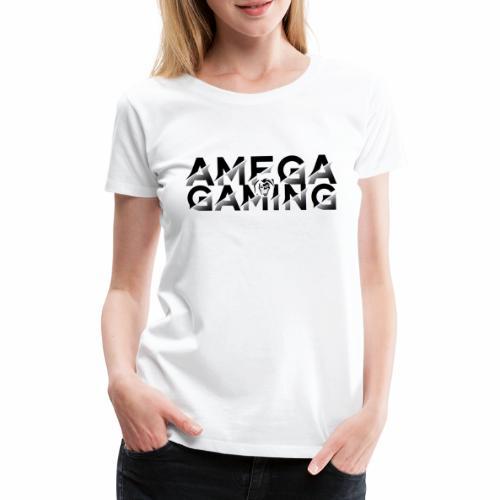 Amega Gaming + Tête - T-shirt Premium Femme