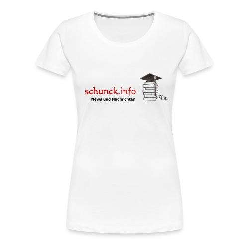 Schunck info - Frauen Premium T-Shirt
