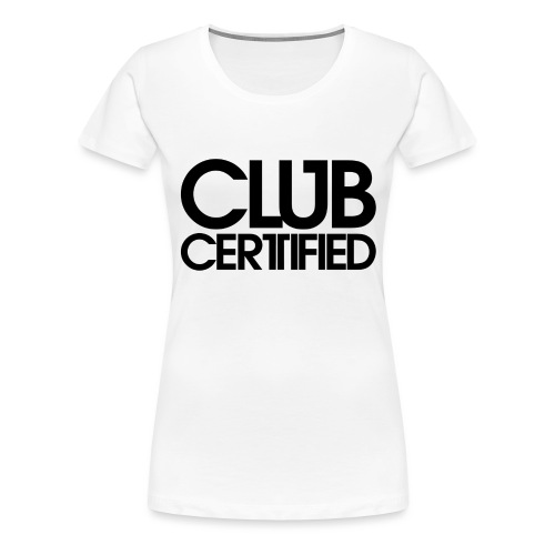 LOGO CLUB CERTIFIED BLACK - Women's Premium T-Shirt