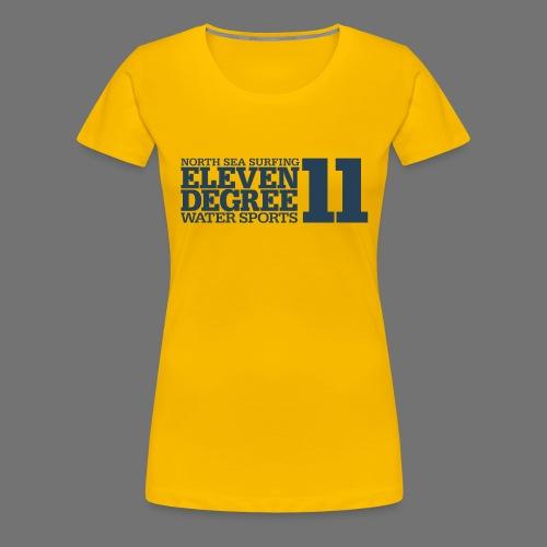 Surfing - eleven degree watersports (gray blue) - Women's Premium T-Shirt