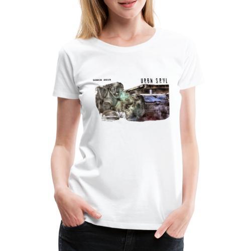 gas mask 2 black - Frauen Premium T-Shirt