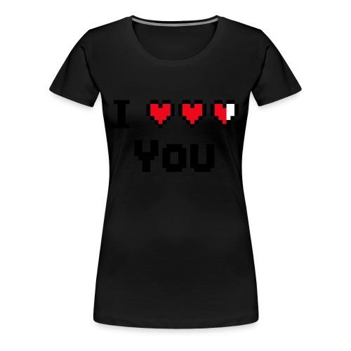 I pixelhearts you - Vrouwen Premium T-shirt