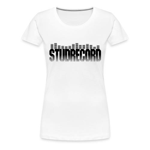 StudRecord (Logo Noir) - T-shirt Premium Femme