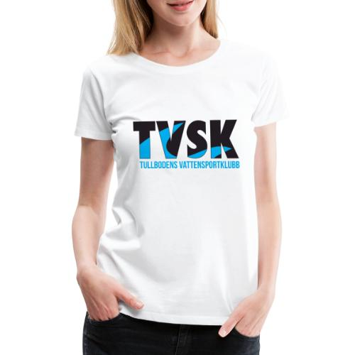 TVSKs färglogo - Premium-T-shirt dam