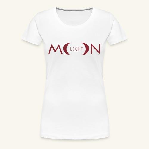 MoonLight bourdeaux - Maglietta Premium da donna
