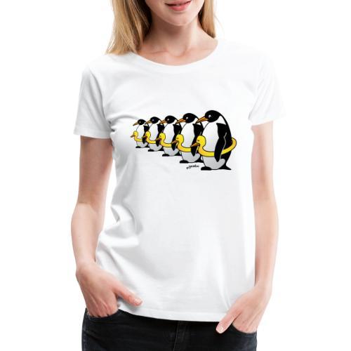Pinguine mit Quietscheentchen - Frauen Premium T-Shirt