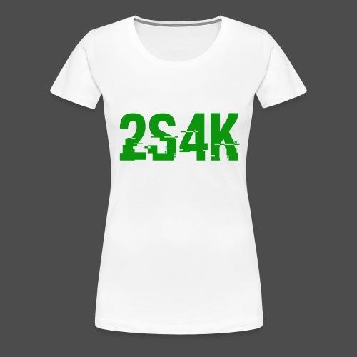 LOGO Grønn Hacked - Premium T-skjorte for kvinner