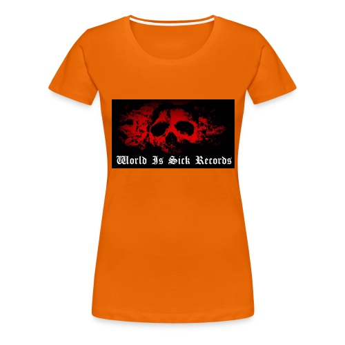 World Is Sick Skull Huppari - Naisten premium t-paita