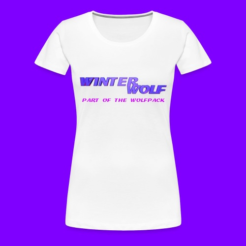 WINTERWOLF LOGO Part of The Wolfpack T-shirt - Vrouwen Premium T-shirt