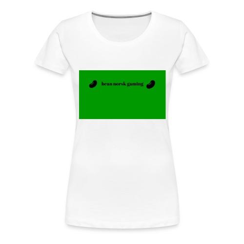bean_norsk_gaming-jpg - Premium T-skjorte for kvinner