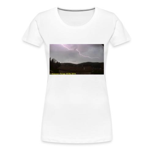 6é photo de l orage du 28 mai 2016 JPG - T-shirt Premium Femme