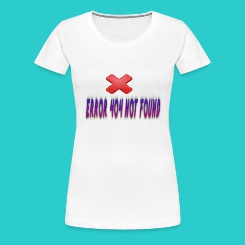 errorr 404 not found - Premium T-skjorte for kvinner