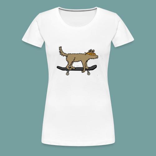 a blind dog skating - Frauen Premium T-Shirt