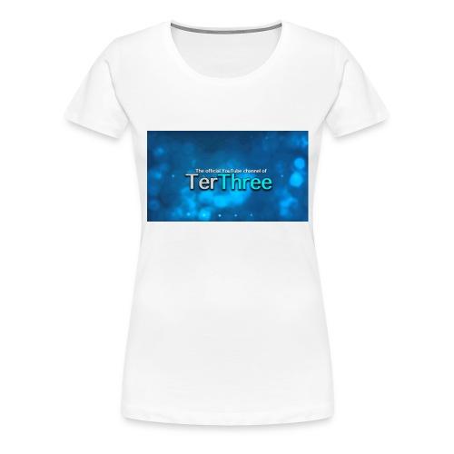 Ter Three Officail Banner - Women's Premium T-Shirt