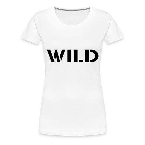 WILD Baseball shirt - T-shirt Premium Femme