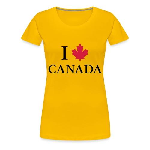 I love Canada Ahornblatt Kanada Vancouver Ottawa - Frauen Premium T-Shirt